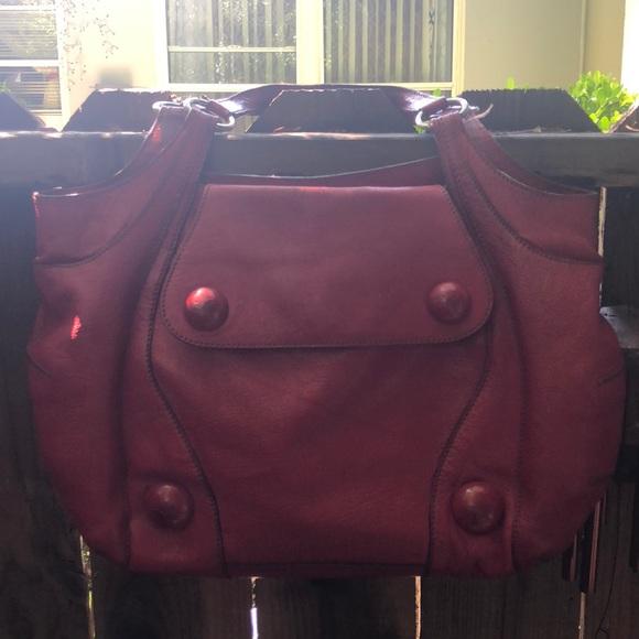 Anya Hindmarch Handbags - Anya Hindmarch Red Leather Handbag